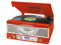 Radio retro gramofon TT1062E trevi MP3 USB SD czerwony